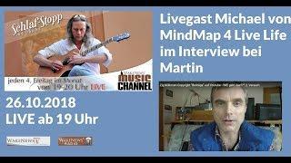 Livegast Michael von MindMap 4 Live Life im Interview bei Martins Schlaf – Stopp Sendung 20181026