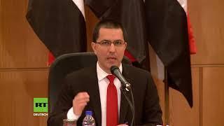 """Außenminister von Syrien und Venezuela: """"Wir haben denselben imperialistischen Feind"""""""