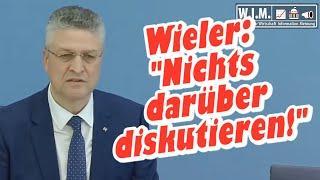 """Lothar Wieler, RKI: """"Nichts darüber diskutieren"""". Aber Wissenschaftlichkeit im IfGS gefordert"""