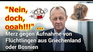 """""""Friedrich Merz gegen Flüchtlingsaufnahme aus Bosnien und Griechenland, usw.!!!"""" ..."""