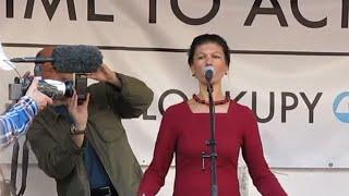 Blockupy 18. März 2015 in  Frankfurt / wütende Sahra Wagenknecht sagt die Wahrheit (GRANDIOS)
