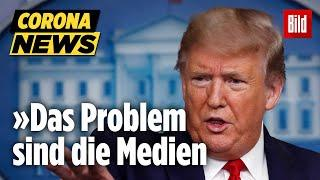 Corona: Trump mit irrem Wutanfall! US-Präsident greift Journalisten an