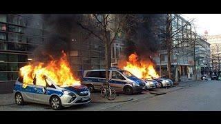 Bürgerkriegsähnliche Zustände / Blockupy am 18.3.2015 in Frankfurt am Main