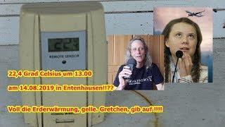 Trailer: 22,4 Grad Celsius im Hochsommer!!!??? Es wird kälter statt wärmer ihr Greta-Spas.ten!!!