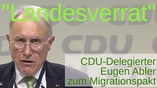 """""""Landesverrat"""" - CDU-Parteitag leicht disharmonisch, Eugen Abler zum Migrationspakt"""