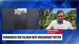 Der Krieg in Afghanistan und die Auswirkungen auf Europa - Gerald Grosz live für oe24.tv
