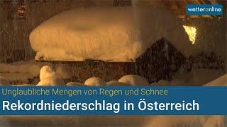 Schnee und Regen - Rekordniederschlag in Österreich (07.12.2020)