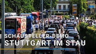 23.07.2020 Gegen Corona-Auflagen: Schausteller-Demo legt Verkehr in Stuttgart lahm