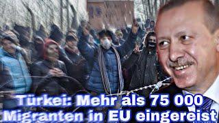 Türkei: Mehr als 75 000 Migranten in EU eingereist