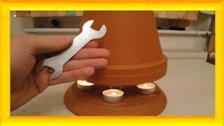 Teelicht-Ofen  selbst bauen, 50 °C + mit DIY Selbstversorger - Candle powered heater