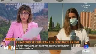 köstlich ! Bitte weit verbreiten ! Spanischer TV-Sender im Gespräch mit Arzt aus Madrid ....haha