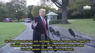 Donald Trump über George Soros & die Finanzierung der Migranten Karawane