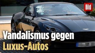40 Nobel-Autos demoliert | Rund 1 Mio. Euro Schaden