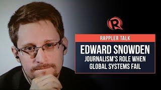Corona - Rappler Talk with Edward Snowden: Journalism's role when global systems fail