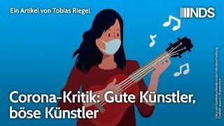 Corona-Kritik: Gute Künstler, böse Künstler | Tobias Riegel | NDS-Podcast