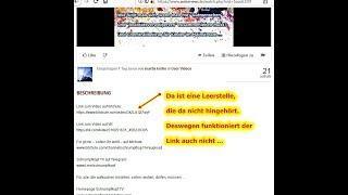 Nachricht an wakenews tv (Detlev) und die anderen Zuschauer bzgl. meiner Bitchute-Links
