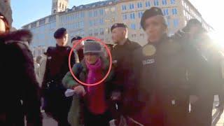Gehbehinderte Oma Freitag abgeführt: Wollte gegen Altersarmut demonstrieren. München