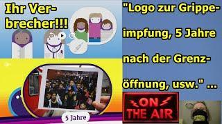 """""""Logo zur Grippeimpfung, 5 Jahre nach der Grenzöffnung, usw."""" ..."""