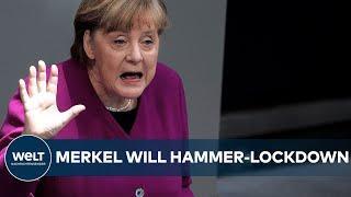 HAMMER-CORONA-LOCKDOWN! Schulen zu! Ausgangssperren! - Kanzlerin Merkel will knallhart durchgreifen