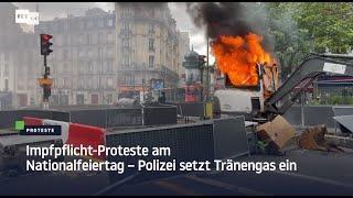 Impfpflicht-Proteste am Nationalfeiertag – Polizei setzt Tränengas ein
