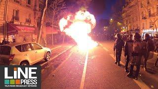 Gilets jaunes Acte 62 - La manifestation dégénère en fin de journée / Paris - France 18 janvier 2020