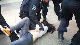 Äußerst brutale Festnahme von Youtuberin Lisa Licentia in Köln. 16.05.2020