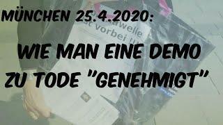 """München: Wie man eine Demo zu Tode """"genehmigt"""""""