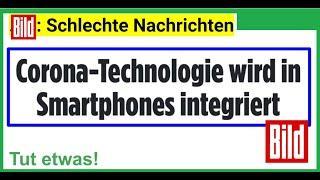 """Corona-Technologie wird in Smartphones integriert"", so die BILD"