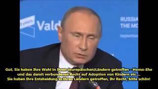 Putin: Europa stirbt aus! Verstehen Sie das denn nicht?!