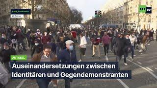Paris: Auseinandersetzungen zwischen Identitären und Gegendemonstranten