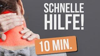 Mache DAS  nach dem Aufstehen 10 Min. lang - Nackenschmerzen schnell loswerden -