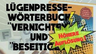 """Lügenpresse-Wörterbuch """"vernichten"""" und """"beseitigen""""/hoch"""