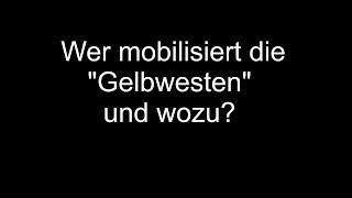 """Wer mobilisiert die """"Gelbwesten"""" und wozu?"""