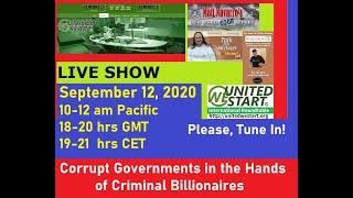 Corrupt Governments in the Hands of Criminal Billionaires - United We Start Roundtable  20200912