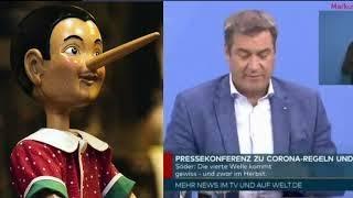 EXKLUSIV: Nach Konferenz mit Merkel – Markus Söder beim (Impf-)Lügen überführt,