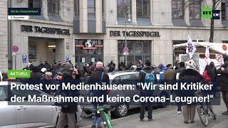 """Protest vor Medienhäusern: """"Wir sind Kritiker der Maßnahmen und keine Corona-Leugner!"""""""