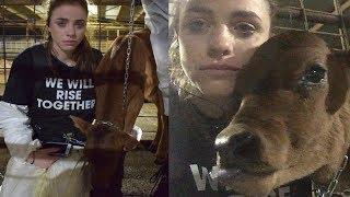 Eine tolle junge Frau kämpft für die Tiere, für Respekt, Liebe und ein veganes Leben