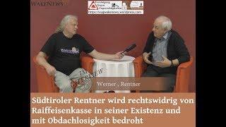 Südtiroler Rentner wird von Raiffeisenkasse existenziell bedroht - Wake News Radio/TV