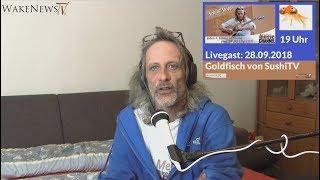 Livegast: Goldfisch von SushiTV  Schlaf – Stopp Sendung – Wake News Radio/TV 20180928