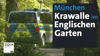 19 verletzte Polizisten: Krawalle im Englischen Garten | Rundschau Magazin | BR24