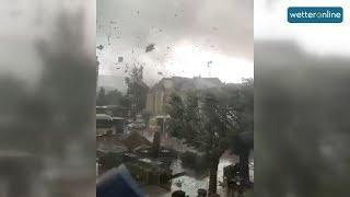 Tornado wütet in Luxemburg (10.08.2019)