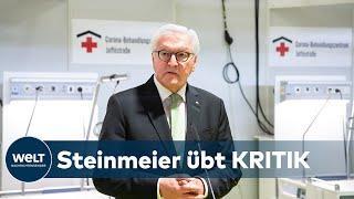 """CORONA-VERSCHWÖRUNGSTHEORIEN: Steinmeier: """"Unbequemer Mundschutz empfehlenswerter als der Aluhut"""""""