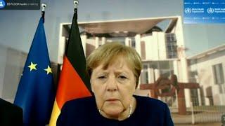 The Cancelor of the Federal Republik of GERMANY - 'Can you hear me now?' Angela Merkel faces techn