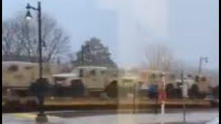 Large Amounts of Military Vehicles Being Moved Past Chicago and Toward Wisconsin Region