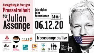 Friedenspreis für Julian Assange - Kundgebung zur Rettung der Pressefreiheit