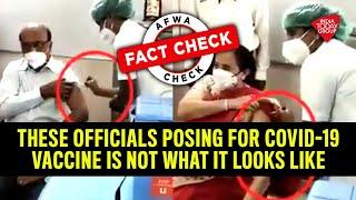 Noch mehr Fake-Impfungen - Fact Check: These Officials Posing For Covid-19 Vaccine Is Not What It Lo