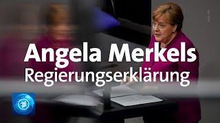 SIE wählen, nicht WIR - Corona: Regierungserklärung von Bundeskanzlerin Merkel im Bundestag