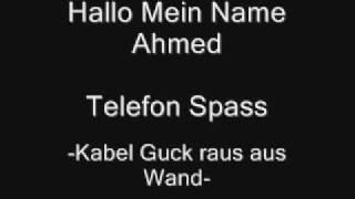 Hallo Mein Name Ahmed -Kabel guck raus aus Wand- Telefon V..