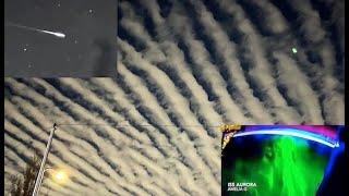 Unknown Bright Objects SWARM in ALL Directions Above Earth From ISS | Bright Aurora & HUGE Fireball!