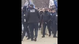 """False flag... DC police open the gates and escort planted """"protestors"""" to enter Capitol Building"""